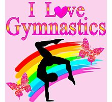 PINK I LOVE GYMNASTICS DESIGN Photographic Print