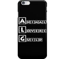 animal lovers guild iPhone Case/Skin