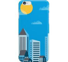 City  in a flat style  iPhone Case/Skin