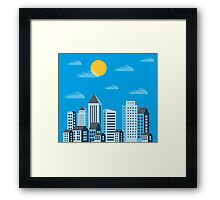 City  in a flat style  Framed Print