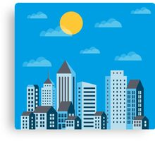City  in a flat style  Canvas Print