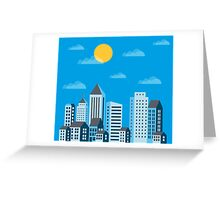 City  in a flat style  Greeting Card