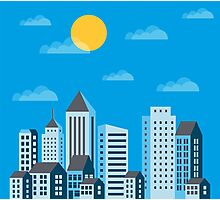 City  in a flat style  Photographic Print