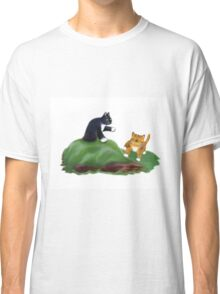 Kittens Playing King-of-the-Hill Classic T-Shirt