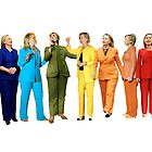 Hilary's Rainbow Pantsuits  by sadgurl00