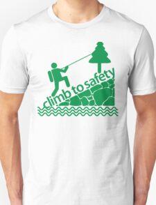 Climb To Safety Green T-Shirt