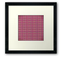 Trendy Pink, Purple, and Yellow Flannel Pattern Framed Print