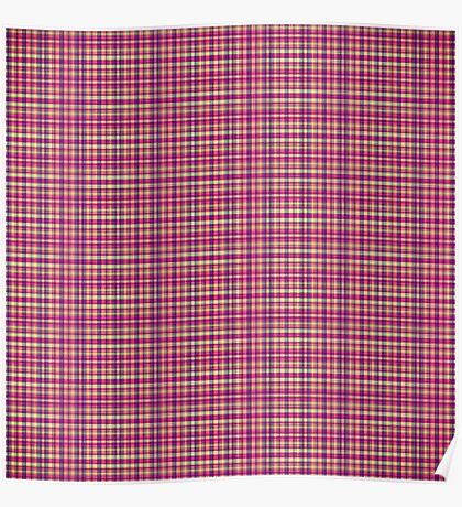 Trendy Pink, Purple, and Yellow Flannel Pattern Poster