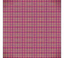 Trendy Pink, Purple, and Yellow Flannel Pattern Photographic Print