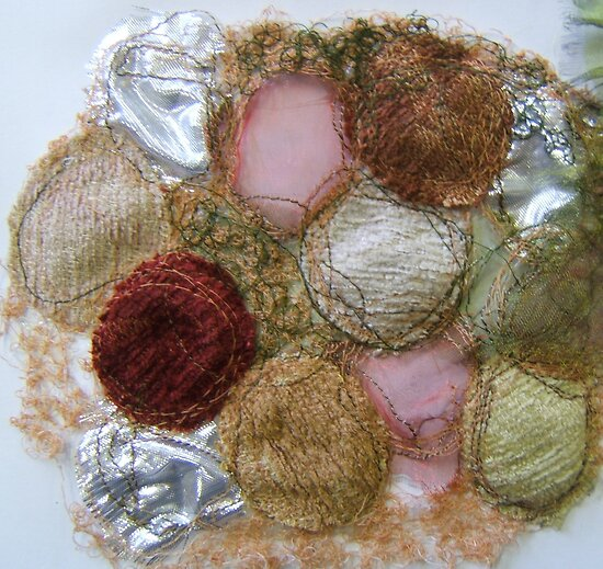 embroidered pebbles by Michelle Brogan