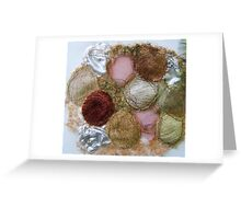 embroidered pebbles Greeting Card