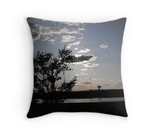 Sun Behind the Trees Sets Throw Pillow