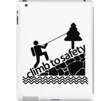 Climb To Safety Grey iPad Case/Skin