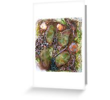 embroidered pebbles II Greeting Card