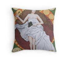 Ode to the Domestic Woman Throw Pillow