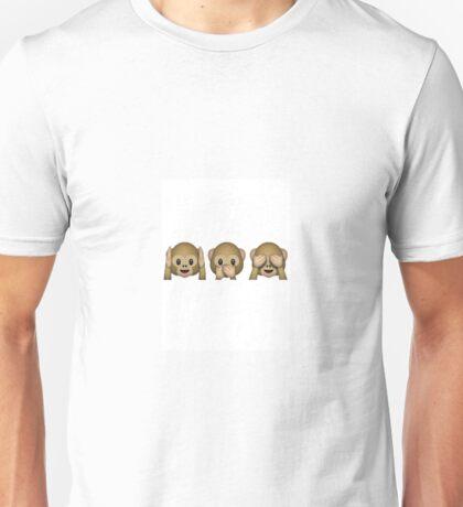 Monkey see monkey do emoji  Unisex T-Shirt