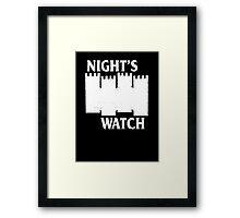 Castle Black ( Night's Watch / Game of Thrones shirt) White Logo Framed Print