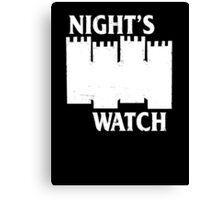 Castle Black ( Night's Watch / Game of Thrones shirt) White Logo Canvas Print