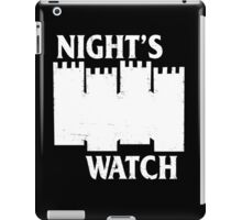 Castle Black ( Night's Watch / Game of Thrones shirt) White Logo iPad Case/Skin