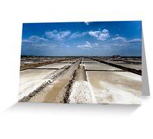 Salt pans of Marakkanam Greeting Card
