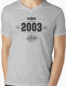 Born in 2003 Mens V-Neck T-Shirt