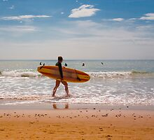 Female Surfer by DavidYates