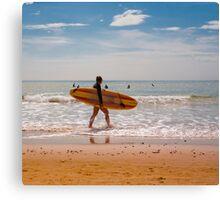 Female Surfer Canvas Print