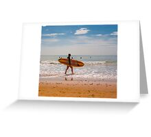 Female Surfer Greeting Card
