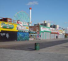 Coney Island boardwalk by gailrush