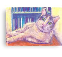 The Bookkeeper (pastel) Canvas Print