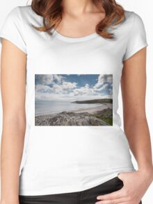 Islay landscape Women's Fitted Scoop T-Shirt