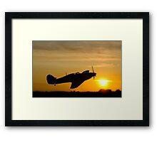 Hurricane Sunset Framed Print