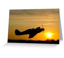 Hurricane Sunset Greeting Card