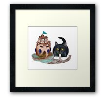 Kitten Encounters a Crab Framed Print