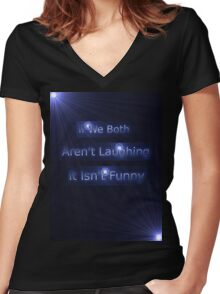 Laughter Advice Tee Women's Fitted V-Neck T-Shirt
