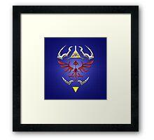 Zelda Shield  Framed Print
