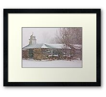 Country Snowstorm Framed Print