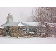 Country Snowstorm Photographic Print