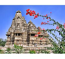 Temple. Khajuraho, India Photographic Print