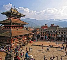 Taumadhi Square. Bhaktapur. Nepal by vadim19