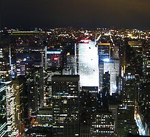the big apple at night by Ravia Khatun