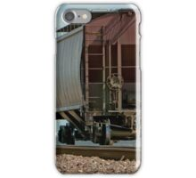 A Lone Grain Hopper Stands Idle on the Tracks iPhone Case/Skin