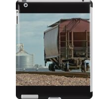 A Lone Grain Hopper Stands Idle on the Tracks iPad Case/Skin