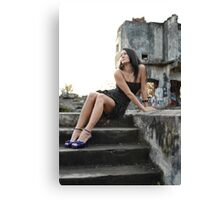 Mary- Staircase Canvas Print