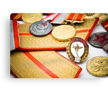 USSR army officer medals and badges Canvas Print