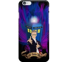Time and Space Traveller with Rainbow Ray Ban Glasses iPhone Case/Skin