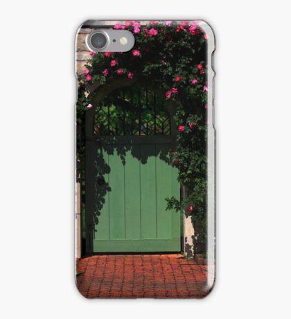 Green Garden Gate iPhone Case/Skin
