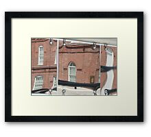 Reflective Bricks Framed Print