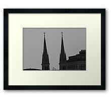 Twin Steeples Framed Print