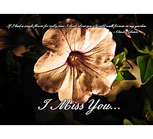 I Miss You... Photographic Print